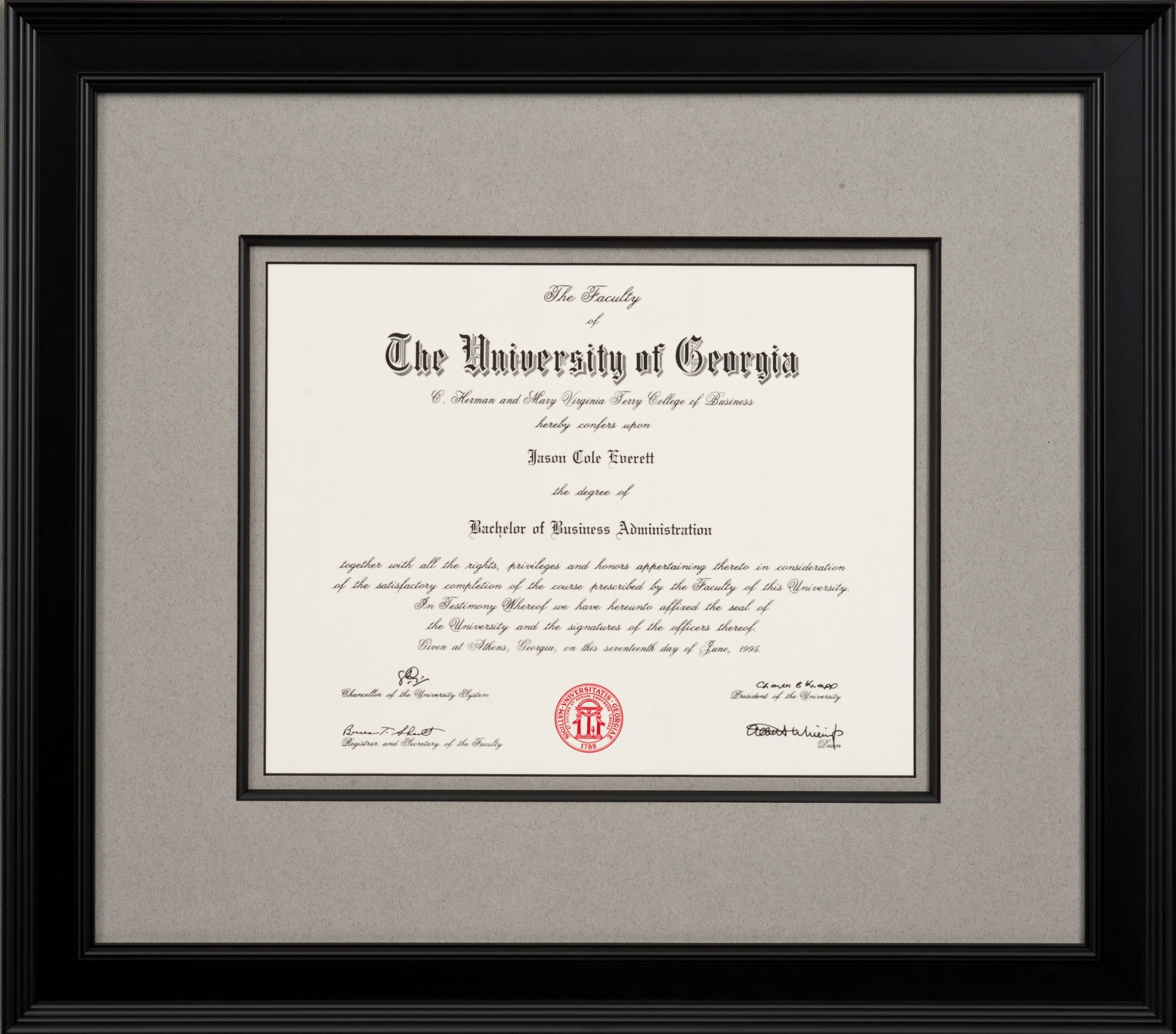 Diploma Framing - The Great Frame Up