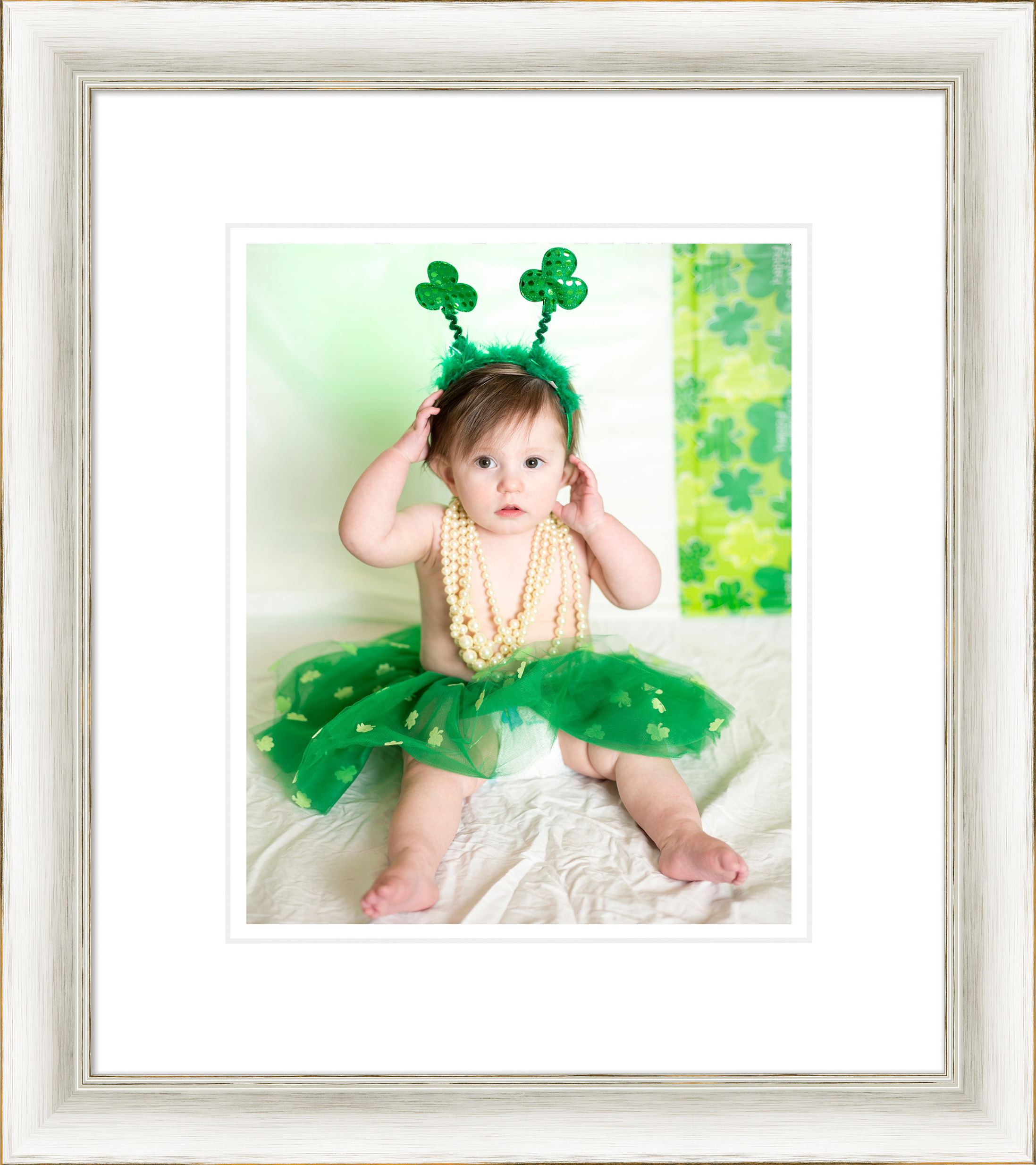 Framed st pats little girl