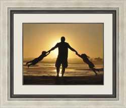 family sunset framed image
